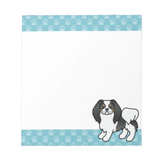 Tricolor Japanese Chin Cartoon Dog Notepad