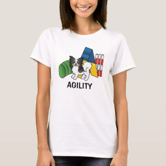 Tricolor Papillon Agility Dog T-Shirt