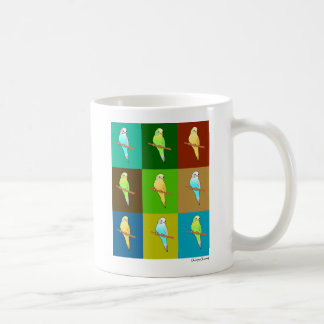 Tricolor Parakeets with Earthy color Design Basic White Mug