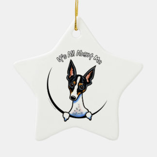 Tricolor Rat Terrier IAAM Christmas Ornament