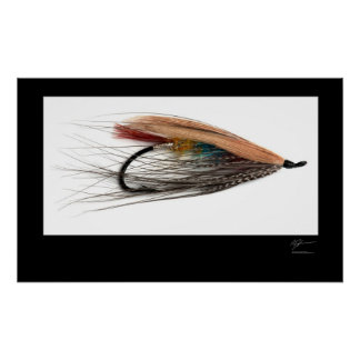 Tricolor Salmon Fly Poster