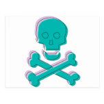Tricolor Skull Postcard