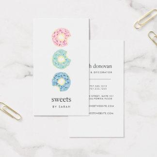 Tricolor Sprinkle Donut Bakery Business Card
