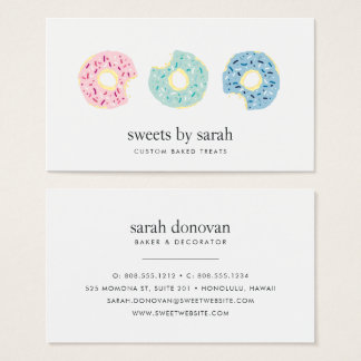 Tricolor Sprinkle Doughnut Business Card