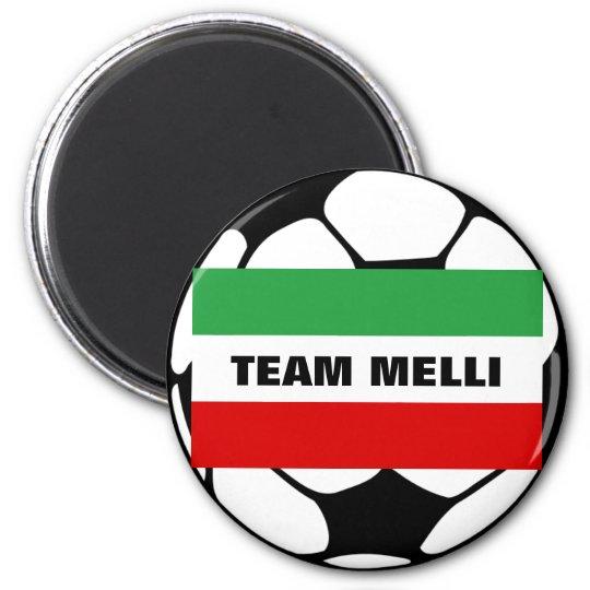 """Tricolor """"TEAM MELLI"""" 6 Cm Round Magnet"""