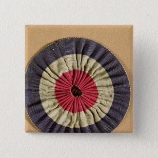 Tricolore rosette 15 cm square badge