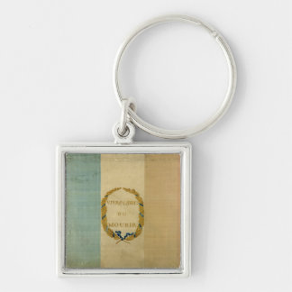 Tricolore with the motto 'Live Free or Die' Key Ring