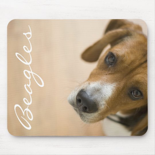 Tricolored Beagle Dog Background Mouse Pad