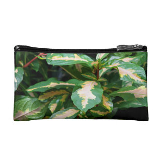 Tricolored Caricature Plant Cosmetic Bag