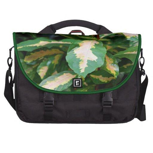 Tricolored Caricature Plant Laptop Bag