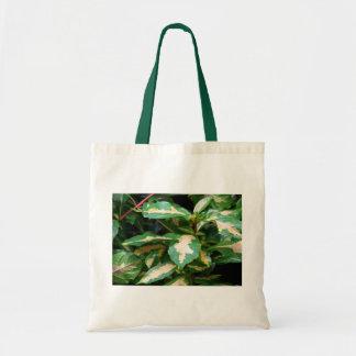 Tricolored Caricature Plant Tote Budget Tote Bag