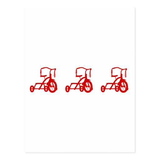 tricycles post card