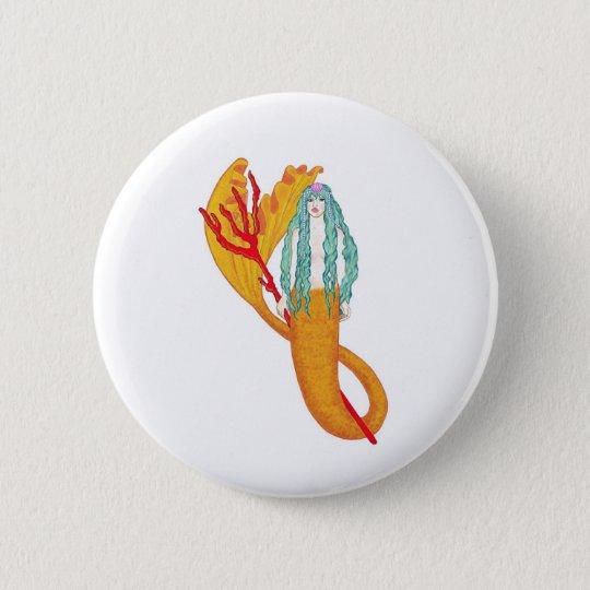 Trident 6 Cm Round Badge