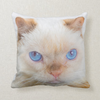 Trident the Cat Throw Pillow