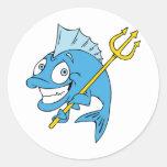 Trident the Fish Classic Round Sticker