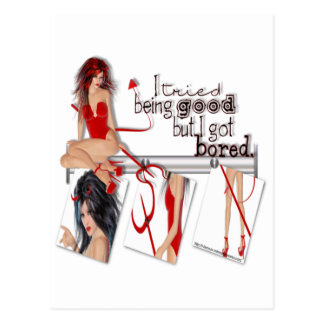Tried Being Good - Postcard