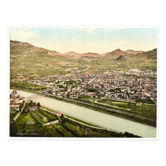 Trient, general view from S. W., Tyrol, Austro-Hun Postcard