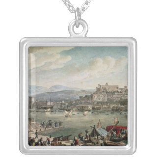 Trieste Harbour, 1802 Silver Plated Necklace