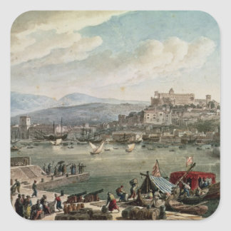 Trieste Harbour, 1802 Square Sticker