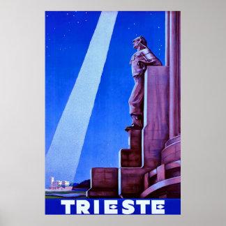 Trieste Vintage Italian Travel Poster