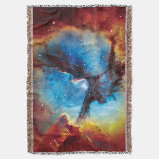 Trifid Nebula Colorful Hubble Outer Space Photo Throw Blanket