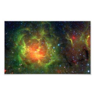 Trifid Nebula NASA Spitzer Photo Print