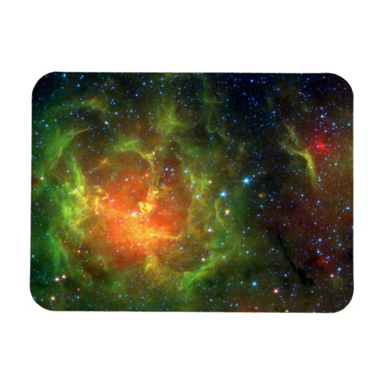 Trifid Nebula NASA Spitzer Rectangular Photo Magnet