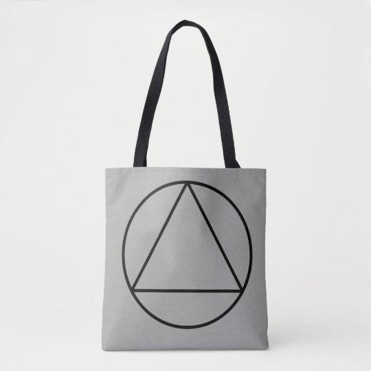Trifish in Circle Tote Bag
