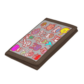 TriFold Nylon Wallet : CARTOONS FOR TEENS