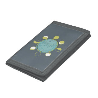TriFold Nylon Wallet MOON PHASES
