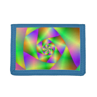 TriFold Nylon Wallet  Psychedelic Spiral
