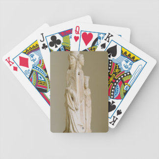 Triform Herm of Hecate, Marble sculpture, Attic pe Bicycle Playing Cards