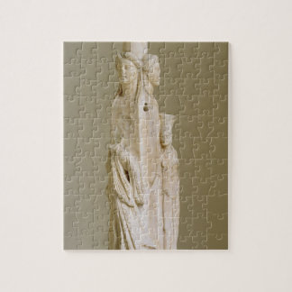 Triform Herm of Hecate, Marble sculpture, Attic pe Jigsaw Puzzle