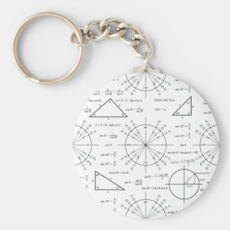 Trig & Triangles Basic Round Button Key Ring