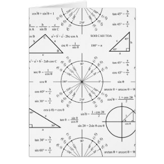 Trig & Triangles Greeting Card