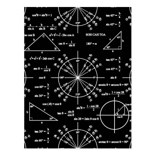 Trig & Triangles Post Card