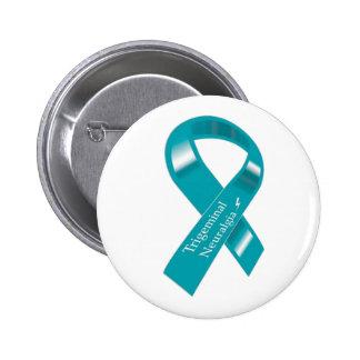 Trigeminal Neuralgia Awareness Ribbon 6 Cm Round Badge