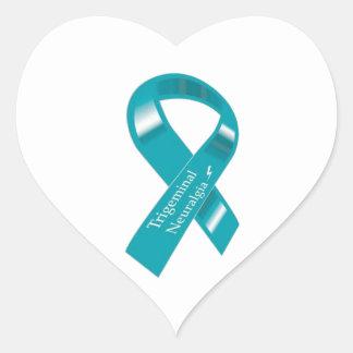 Trigeminal Neuralgia Awareness Ribbon Heart Sticker