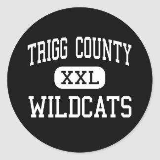Trigg County - Wildcats - High - Cadiz Kentucky Classic Round Sticker