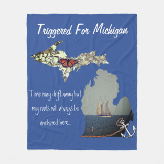 Triggered For Michigan Fleece Blanket