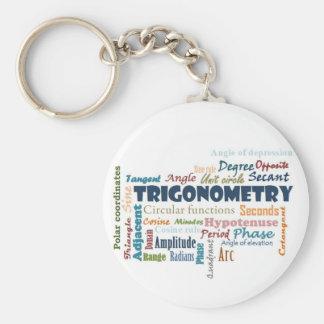 Trigonometry_Display Basic Round Button Key Ring