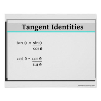 Trigonometry: Tangent Identities Poster