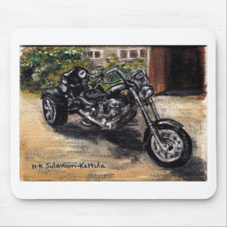 Trike motorcycle mouse mat