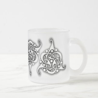 TriLink Celtic Knot Frosted Glass Coffee Mug