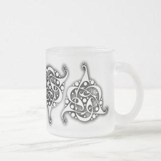 TriLink Celtic Knot Frosted Glass Mug