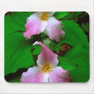 Trillium Wildflower Mouse Mat