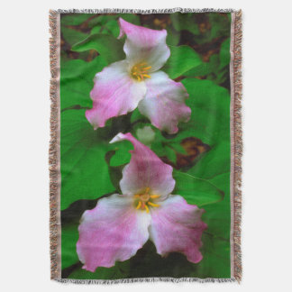Trillium Wildflower Throw Blanket