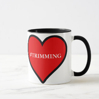 #TRIMMING 11oz. Black and White Mug with a Heart