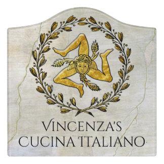 Trinacria Cucina Italiano Kitchen Sign