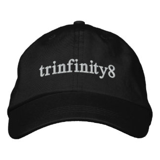 Trinfinity8 Adjustable Hat with White Lettering